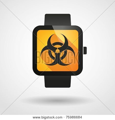 Smart Watch Icon With A Biohazard Sign