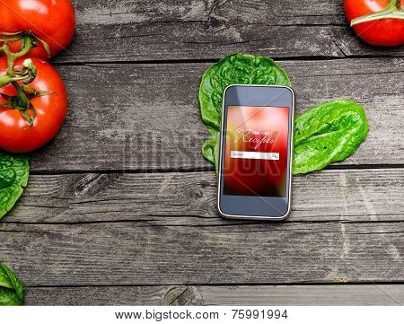 Cooking Recipes On Smart Phone