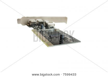 Microcircuit Isolated On The White Background
