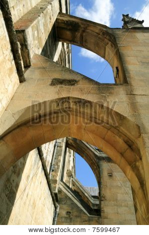 Buttress arches of Winchester Cathedral