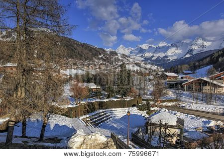 Le Grand-Bornand village, Alps, France
