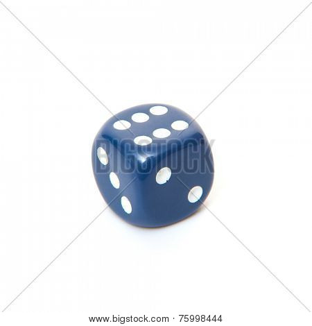 6-sided dice. All on white background.