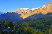 foto of karakoram  - beautiful Landscape of Hunza Valley in Autumn season - JPG