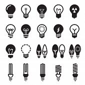 stock photo of fluorescent light  - Light bulbs - JPG
