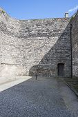 picture of execution  - Cross on the grounds of Kilmainham prison where prisoners were executed - JPG