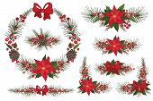 image of christmas wreath  - Merry Christmas and Happy New Year Wreath  - JPG