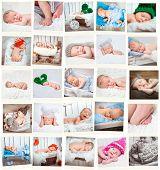 picture of sweet dreams  - Set  of a sweet newborn babies photos - JPG