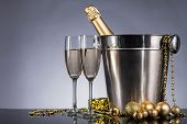 foto of life event  - Champagne bottle with glasses - JPG