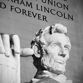 foto of abraham  - Abraham Lincoln statue at the Lincoln Memorial - JPG