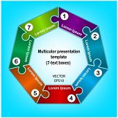 foto of heptagon  - Heptagon presentation template for education or business concept - JPG