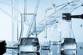 foto of science  - chemical ware in the science lab laboratory - JPG