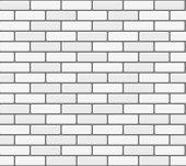 image of brick block  - White brick wall - JPG