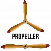 picture of propeller plane  - Set of Airplane classic wood propellers - JPG