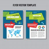 pic of polygon  - Abstract geometric brochure vector template - JPG