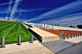 image of prime-minister  - Parliament House Canberra Australia Side view with lawned roof - JPG