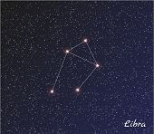 foto of libra  - star constellation of libra on dark sky vector - JPG