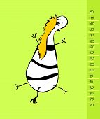 pic of measuring height  - Baby height measure with funny zebra  - JPG