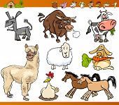 pic of horses ass  - Cartoon Illustration Set of Funny Farm Animals Characters - JPG