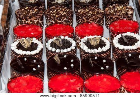 Tray With Cakes.