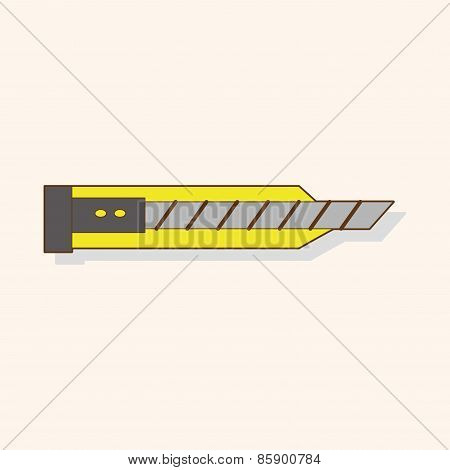 Stationary Utility Knife Theme Elements Vector,eps