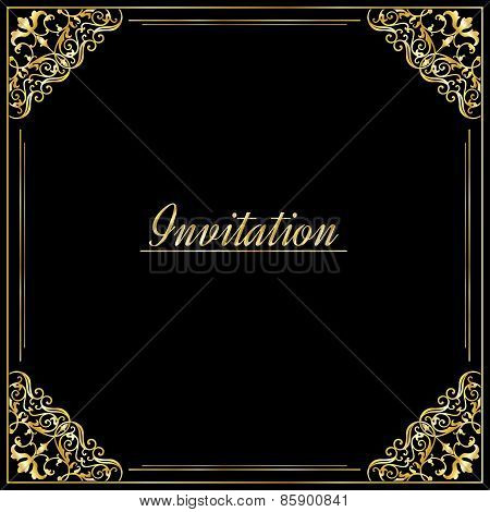 Vintage background, antique, victorian gold ornament, baroque frame,template for design