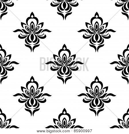 Retro floral seamless pattern with elegance flowers