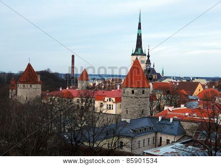 Landscape Of The Old Tallinn
