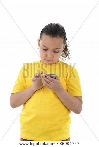 Young Girl Using Her Mobile Phone