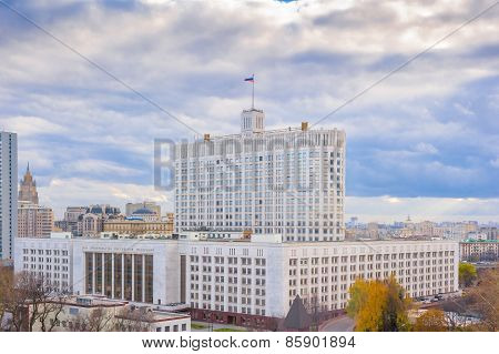 Urban Landscape Of Moscow White House