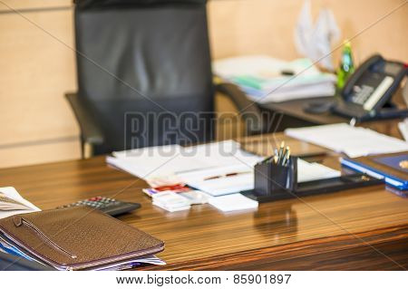 Empty Workspace Director Of An Enterprise