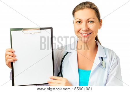 Happy Nurse And A Blank For Your Inscription