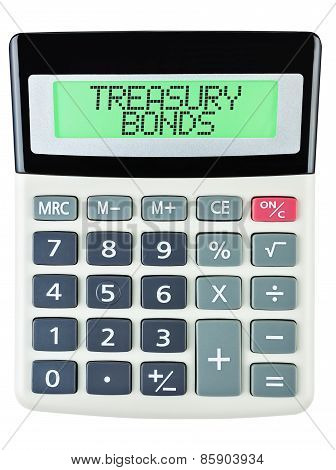 Calculator With Treasury Bonds