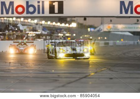 Sebring, FL - Mar 19, 2015:  The Riley Motorsports Dodge Viper SRT races through the turns at 12 Hours of Sebring at Sebring Raceway in Sebring, FL.