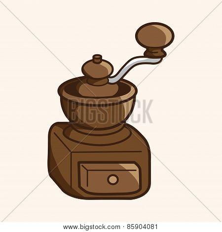 Grinding Coffee Machine Theme Elements Vector,eps