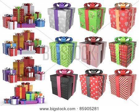 Christmas Gifts 3D Set