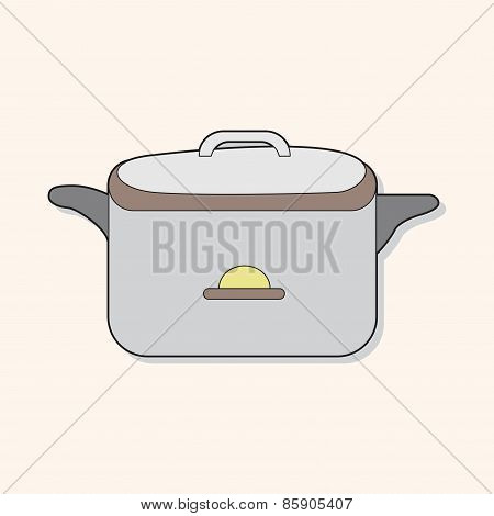 Kitchenware Rice Cooker Theme Elements Vector,eps