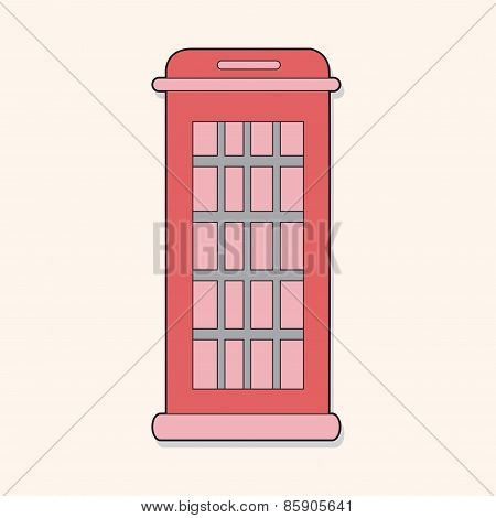 Telephone Booth Theme Elements Vector,eps