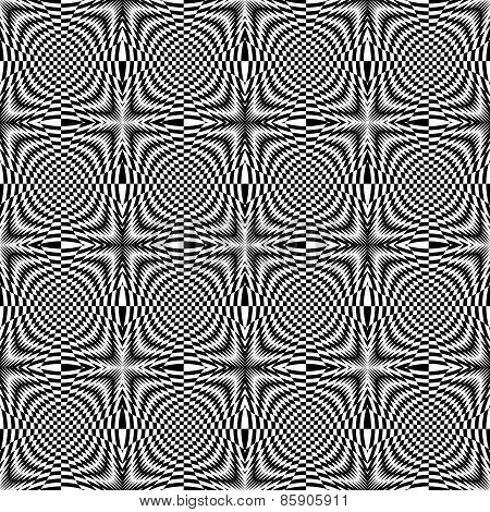 Design Seamless Monochrome Illusion Checkered Background
