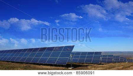 Solar Panels Installation In The Fields
