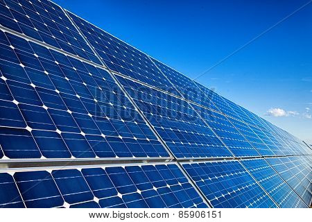 Big Solar Panels Background