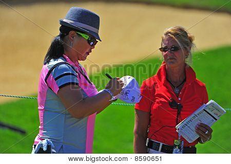 Christina Kim LPGA Signing autograph