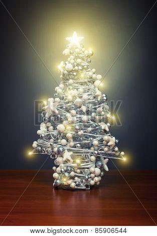 Chrismas tree with lights