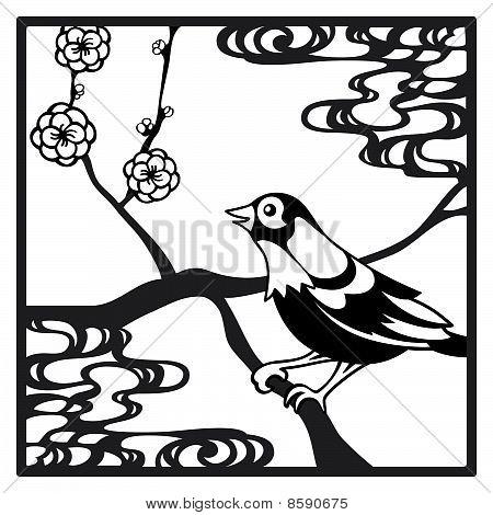 Papercut bird