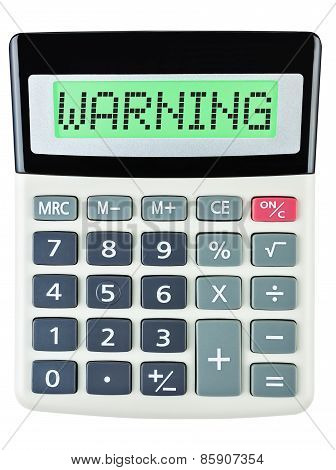 Calculator With Warning