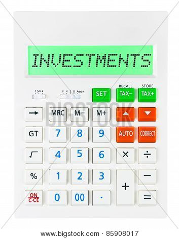 Calculator With Investments