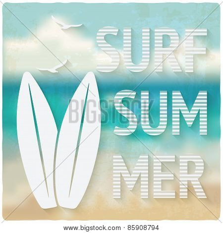 surfing beach summer background