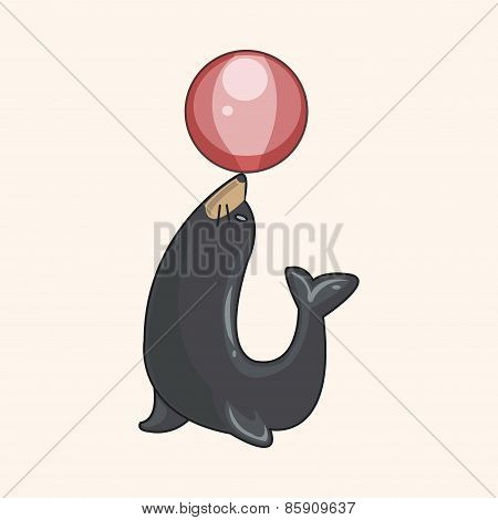Circus Animal Theme Elements Vector,eps
