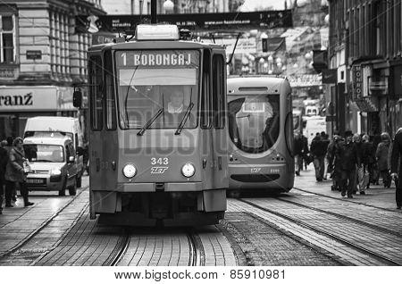 Tram In Zagreb