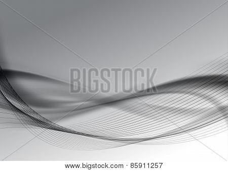 Dark Halftone Abstract Modern Swoosh Wave Layout Background