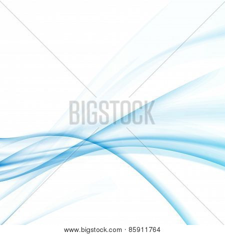 Blue Abstract Swoosh Wave Layout With Lines